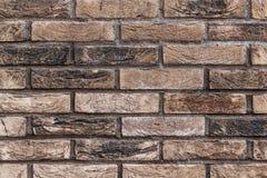 Parede de tijolo de Brown na rua imagens de stock royalty free