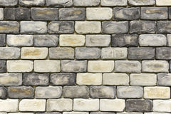Parede de tijolo cinzenta áspera Fotografia de Stock Royalty Free