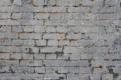 Parede de tijolo cinzenta Fotos de Stock
