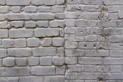 Parede de tijolo cinzenta Imagens de Stock