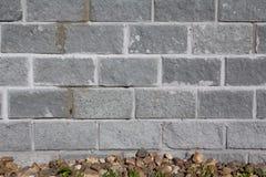 Parede de tijolo cinzenta Imagem de Stock Royalty Free