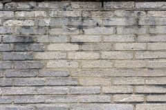 Parede de tijolo cinzenta resistida 4 Imagem de Stock