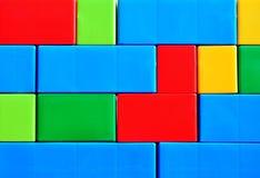 Parede de tijolo colorida Imagens de Stock