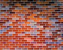 Parede de tijolo colorida Imagem de Stock