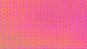 Parede de tijolo colorida com textura do fundo da pintura da casca Foto de Stock Royalty Free