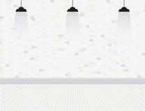 Parede de tijolo com bulbos Ilustração Stock