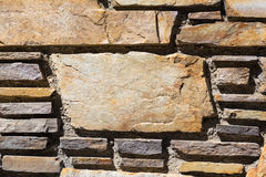 Parede de tijolo com espaço da cópia em um grande tijolo Imagem de Stock