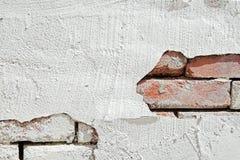 Parede de tijolo com estuque Imagens de Stock Royalty Free