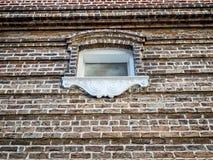 Parede de tijolo com a janela no LA de Nova Orleães Imagem de Stock