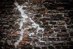 Parede de tijolo com um raio para o bakground Fotos de Stock Royalty Free