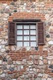 Parede de tijolo com verde e hera para o trabalho de arte Foto de Stock Royalty Free