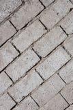 Parede de tijolo concreta cinzenta angular Fotografia de Stock