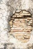 Parede de tijolo concreta velha do vintage Fotografia de Stock