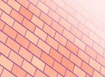 Parede de tijolo cor-de-rosa ilustração stock