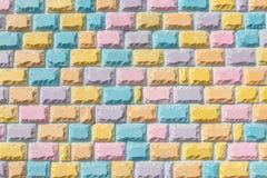 Parede de tijolo da cor completa Fotografia de Stock Royalty Free