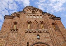 A parede de tijolo da igreja Imagens de Stock Royalty Free