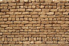 Parede de tijolo da lama Fotos de Stock