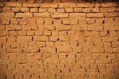 Parede de tijolo da lama Imagem de Stock