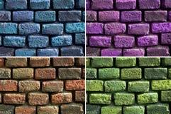 Parede de tijolo da textura, grupo fotos de stock