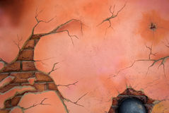 Parede de tijolo danificada velha Imagem de Stock Royalty Free