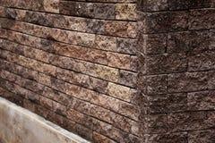 Parede de tijolo de Brown Fotografia de Stock