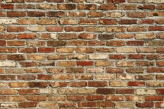 Parede de tijolo de Grunge Foto de Stock Royalty Free