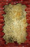 Parede de tijolo de Grunge e textura concreta fotos de stock