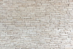 Parede de tijolo de pedra branca da textura da telha Imagem de Stock Royalty Free