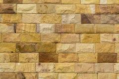 Parede de tijolo de pedra da areia Imagens de Stock Royalty Free