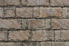 Parede de tijolo de pedra da textura da telha Fotografia de Stock Royalty Free