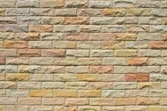 A parede de tijolo de pedra moderna aplainou Foto de Stock