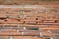 Parede de tijolo de Perspecticve Fotos de Stock