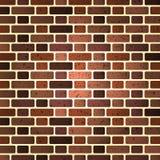 Parede de tijolo de tijolos vermelhos Ilustração do vetor fotografia de stock