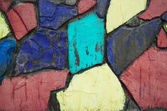 Parede de tijolo do arco-íris Imagem de Stock Royalty Free