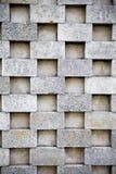 Parede de tijolo do cimento fotos de stock