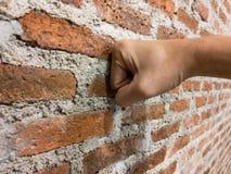 Parede de tijolo do escritório moderno do estilo fotografia de stock
