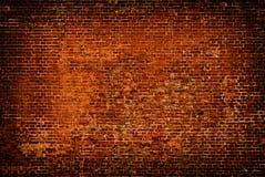 Parede de tijolo do fundo da cor vermelha Fotos de Stock Royalty Free