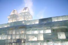 Parede de tijolo do gelo Imagens de Stock