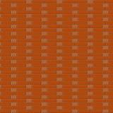 A parede de tijolo do marrom do vetor Fundo Ligação da monge Fotografia de Stock
