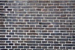 Parede de tijolo do marrom escuro Foto de Stock