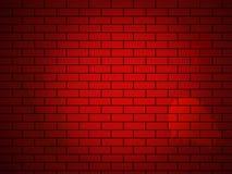 Parede de tijolo do vetor feita de tijolos vermelhos Fotos de Stock