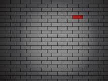 Parede de tijolo do vetor feita de tijolos vermelhos Imagens de Stock
