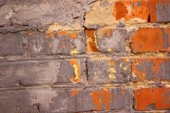 Parede de tijolo do vintage na cidade Imagem de Stock
