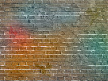 A parede de tijolo dos grafittis Imagens de Stock