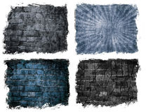 Parede de tijolo envelhecida Imagens de Stock