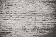 Parede de tijolo escura velha, fundo da textura Imagens de Stock