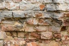 Parede de tijolo feita da pedra vermelha Foto de Stock