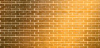 Parede de tijolo, fundo amarelo dourado da textura da parede de tijolos para o projeto gráfico ilustração do vetor
