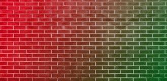 Parede de tijolo, fundo verde vermelho da textura da parede de tijolos para o projeto gráfico ilustração do vetor