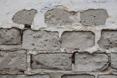 Parede de tijolo gasto Fotografia de Stock Royalty Free